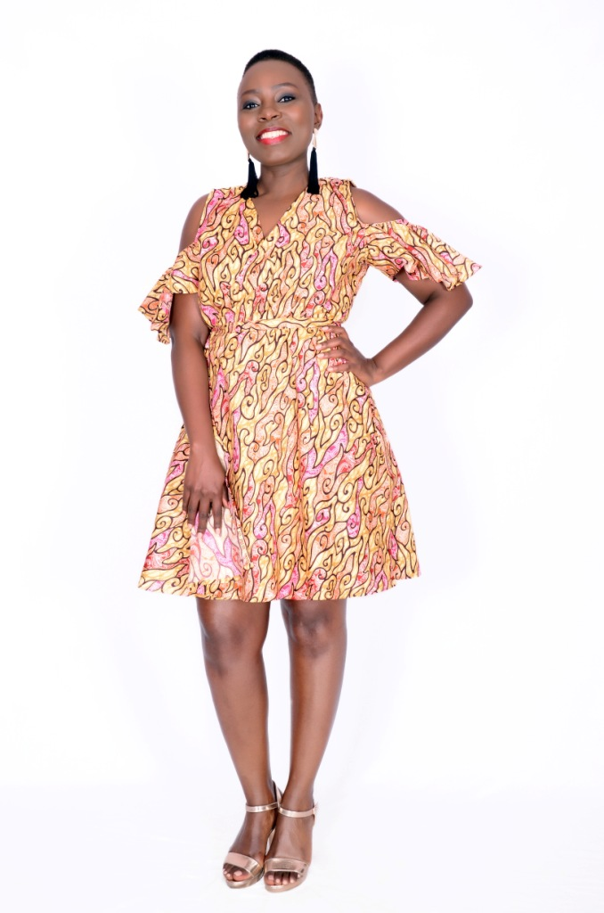 Paisley Print African Dress