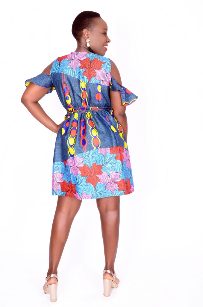 Mixed Print African Dress